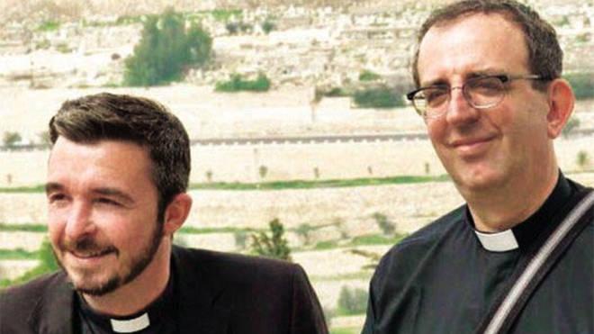 Reverend Richard Coles with his partner David