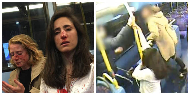 Melania Geymonat and Christine Hannigan were attacked on a bus