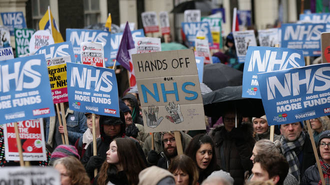 Many protests have been held in opposition to the government's NHS strategy
