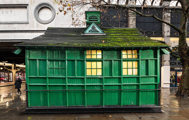 Cabmen's Shelter, Northumberland Avenue at the junction with Embankment Place, London