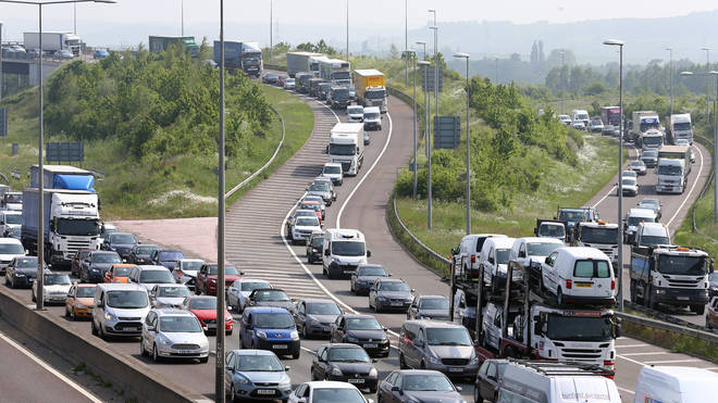 Traffic queues are predicted on several major roads