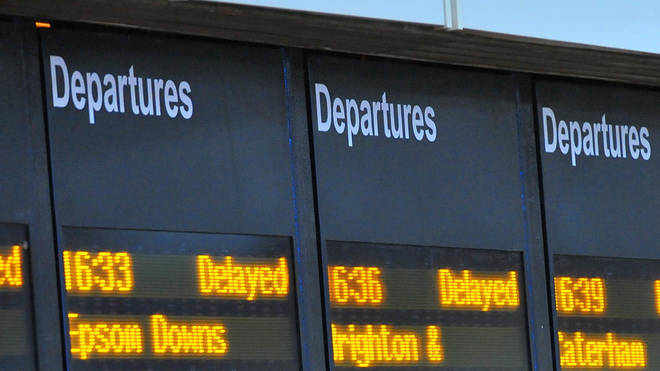 Train delays due to flooding happened on Friday