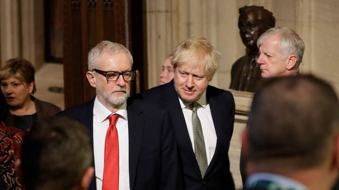 Labour leader Jeremy Corbyn (left) and Prime Minister Boris Johnson