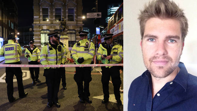 Darryn Frost has spoken out after taking on the London Bridge attacker with a narwhal tusk