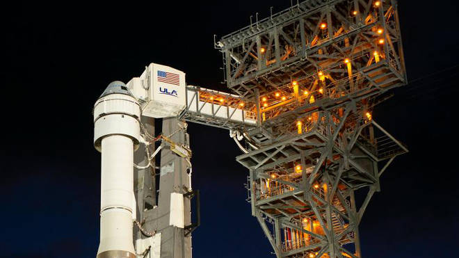 The Starliner on the pad pre launch