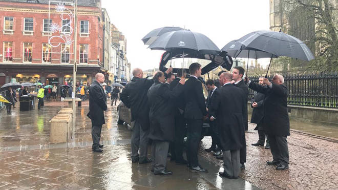 Pallbearers at the service for Jack Merritt