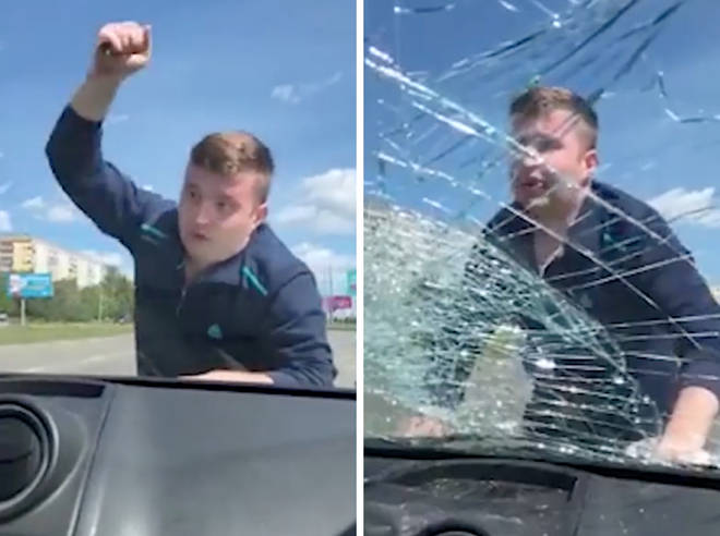 Furious father smashes windows of ex-wifes car in custody row