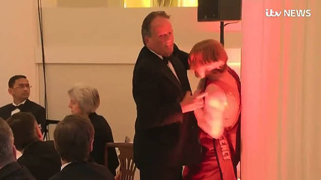Mark Field grabbed the activist at a black-tie event at Mansion House in June