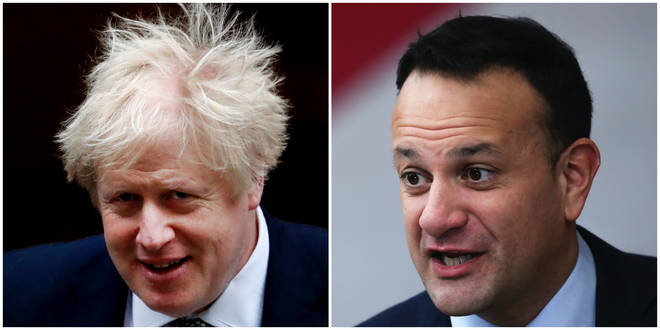 "Mr Varadkar said Boris Johnson&squot;s ""hard Brexit"" will make a good trade deal difficult"