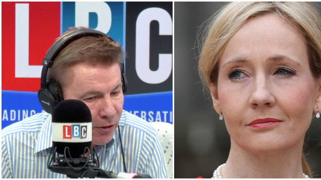 "Caller with trans family member calls out the ""prejudice"" of JK Rowling"