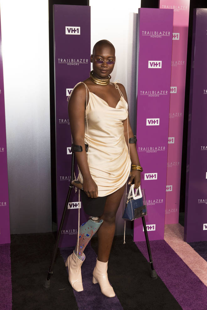 Blogger and activist Mama Cax attending the VH1 Trailblazer Honours at The Cathedral of St John the Divine in New York.
