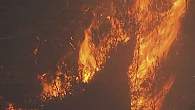 Fires rage in Australia's Blue Mountains