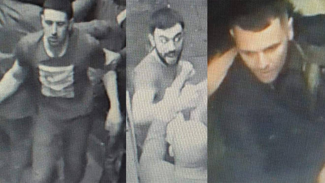 Police want to trace these three men who were seen on CCTV