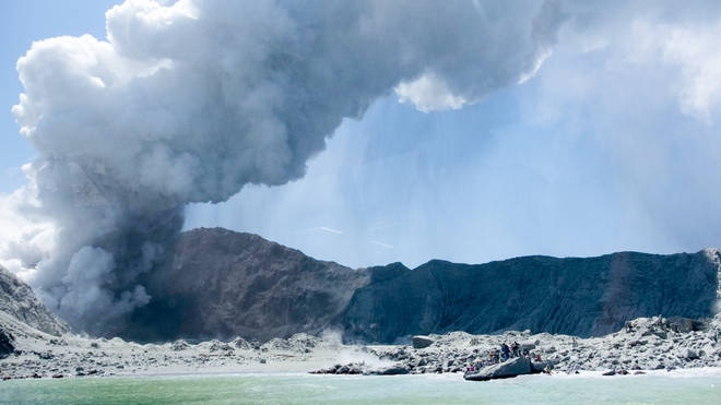 The volcano erupted on 9 December