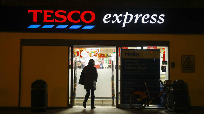 Tesco has halted card production at the factory in China.