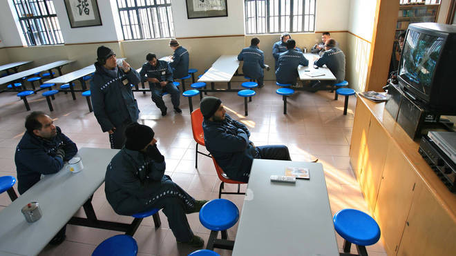 Foreign inmates at Shanghai's Qingpu Prison (File image)