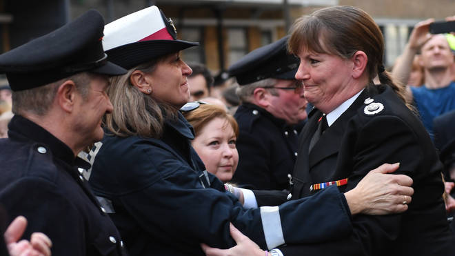 Dany Cotton had an emotional last day