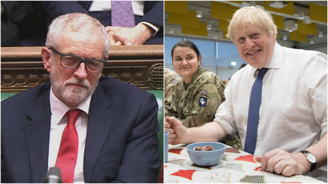 Boris Johnson and Jeremy Corbyn's Christmas messages were in stark contrast