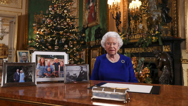 Her Majesty The Queen giving her Christmas message