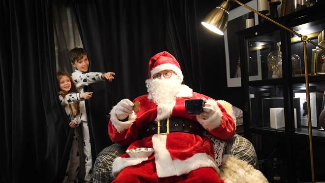 Children often like to track Santa
