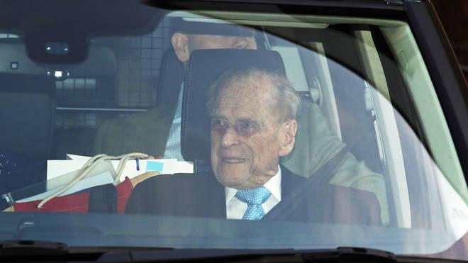 The Duke leaves hospital