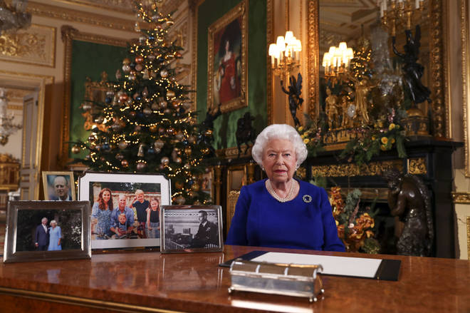 Four photos are on show during the Queen's Speech