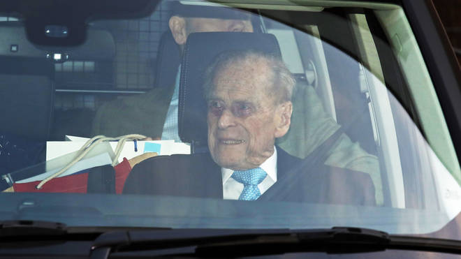 The Duke of Edinburgh is driven from hospital