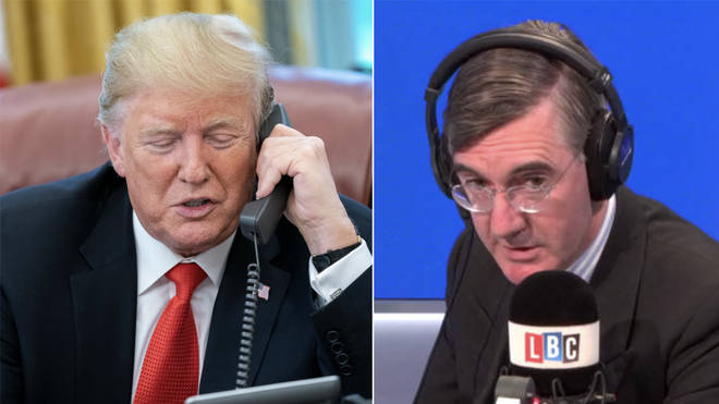 Donald Trump and Jacob Rees-Mogg both made the front pages on LBC this year