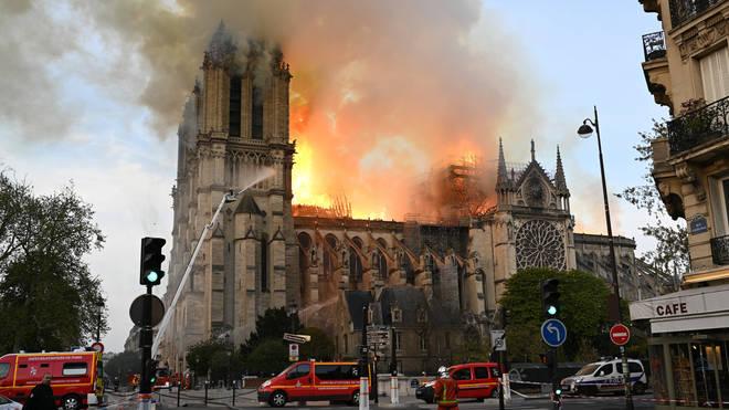 A huge blaze engulfed the iconic landmark