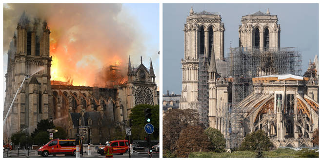 The iconic Cathedral was gutted by fire in April