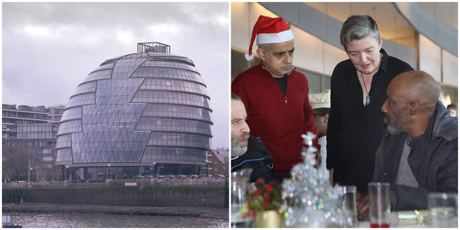 The Mayor invited 100 rough sleepers to City Hall for Christmas Eve