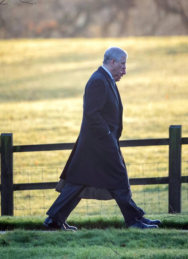 The Duke of York walked alongside Prince Charles