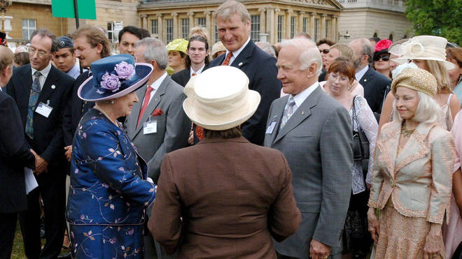 The Queen met Buzz Aldrin in 2006