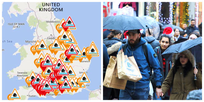 Flood warnings are in place for Boxing Day