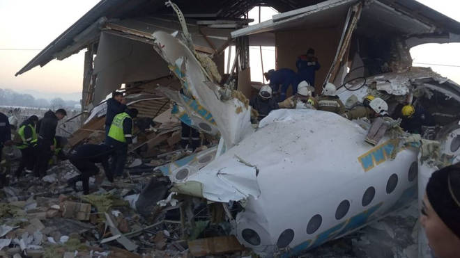 The plane hit the building shortly after take off