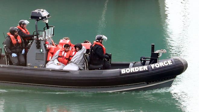 Border Force officers were deployed to the scene (file photo)