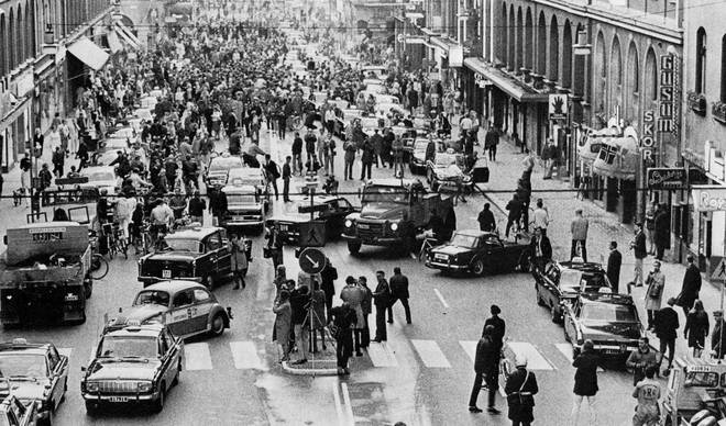 Sweden swapped driving on the left to the right 50 years ago today