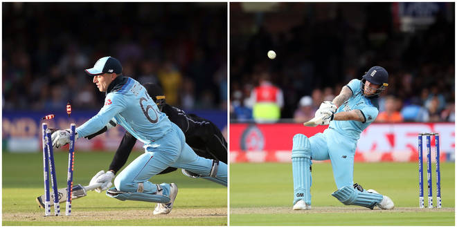 Jos Buttler (L) and Ben Stokes (R) were both instrumental in the World Cup Final victory