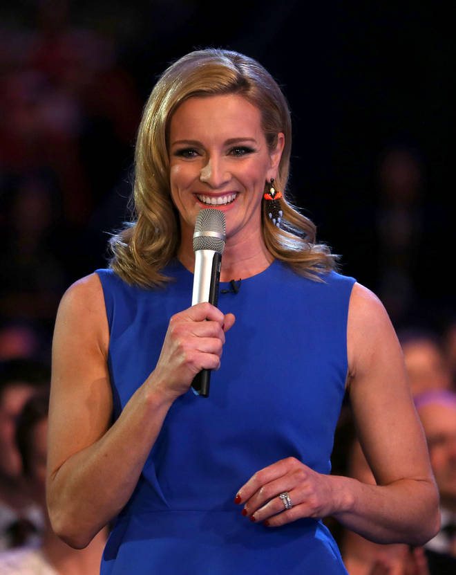Broadcaster Gabby Logan was recognised with an MBE