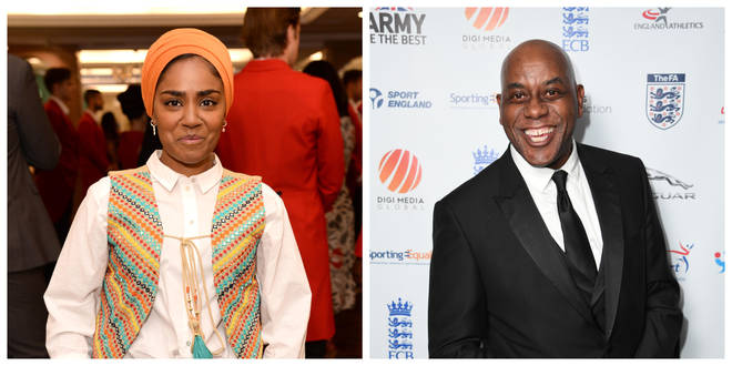 Nadiya Hussain and Ainsley Harriott were handed gongs
