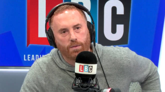 "Caller explains why he now feels embarrassed to be a ""white British person"""