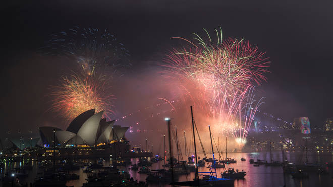Sydney hosts the annual display on New Year's Eve