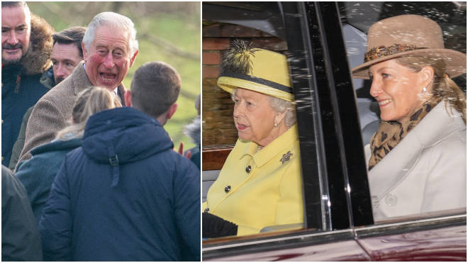 The Queen attended church with other royal family members