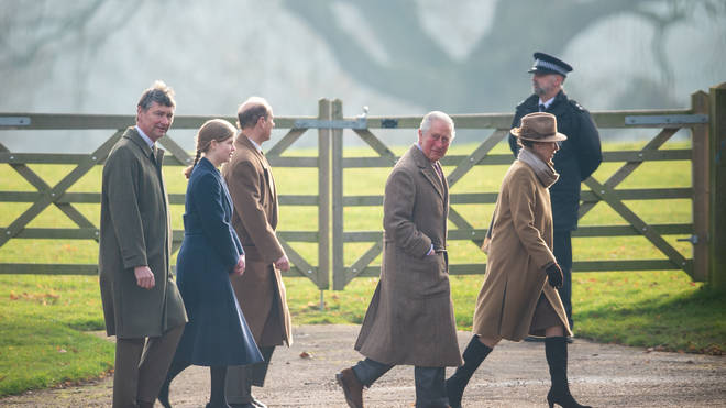 Several members of the royal family attended the church service