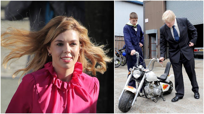 Carrie Symonds treated the prime minister to a second-hand motorbike