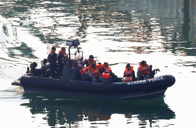 "UK Border Force intercepted 11 ""Iranian"" nationals crossing the Channel"