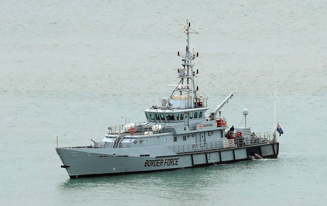 A cutter has been patrolling British shores over the Christmas period