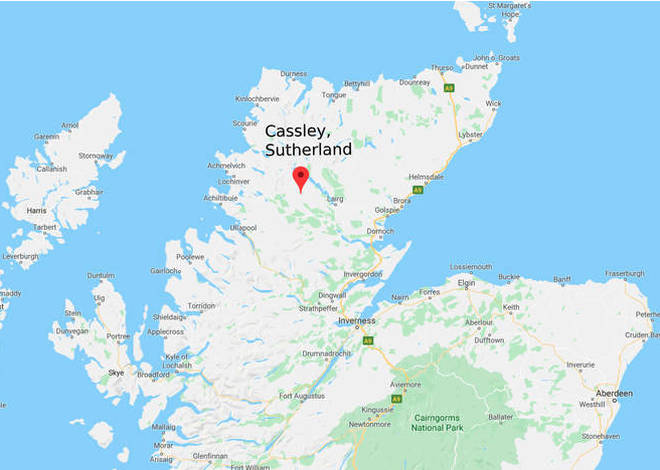 Cassley, Sutherland is situated above Inverness in the Scottish Highlands