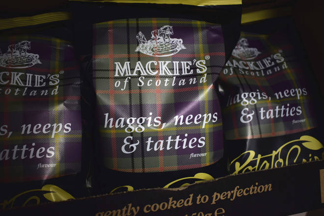 "The ""world&squot;s first"" haggis, neeps and tatties flavoured crisps, for fans of Scotland&squot;s national dish."