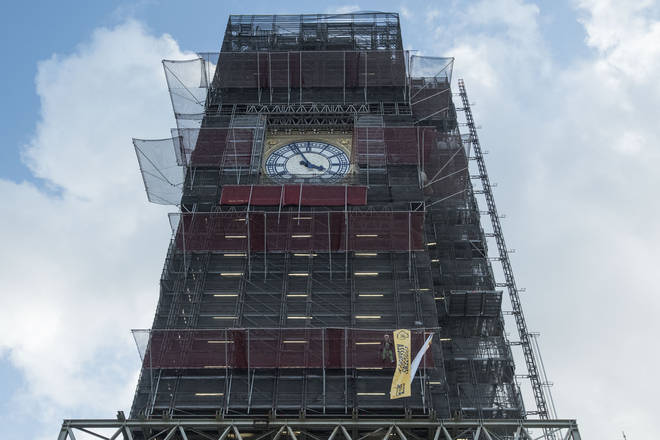 Renovation work is being carried out on Big Ben